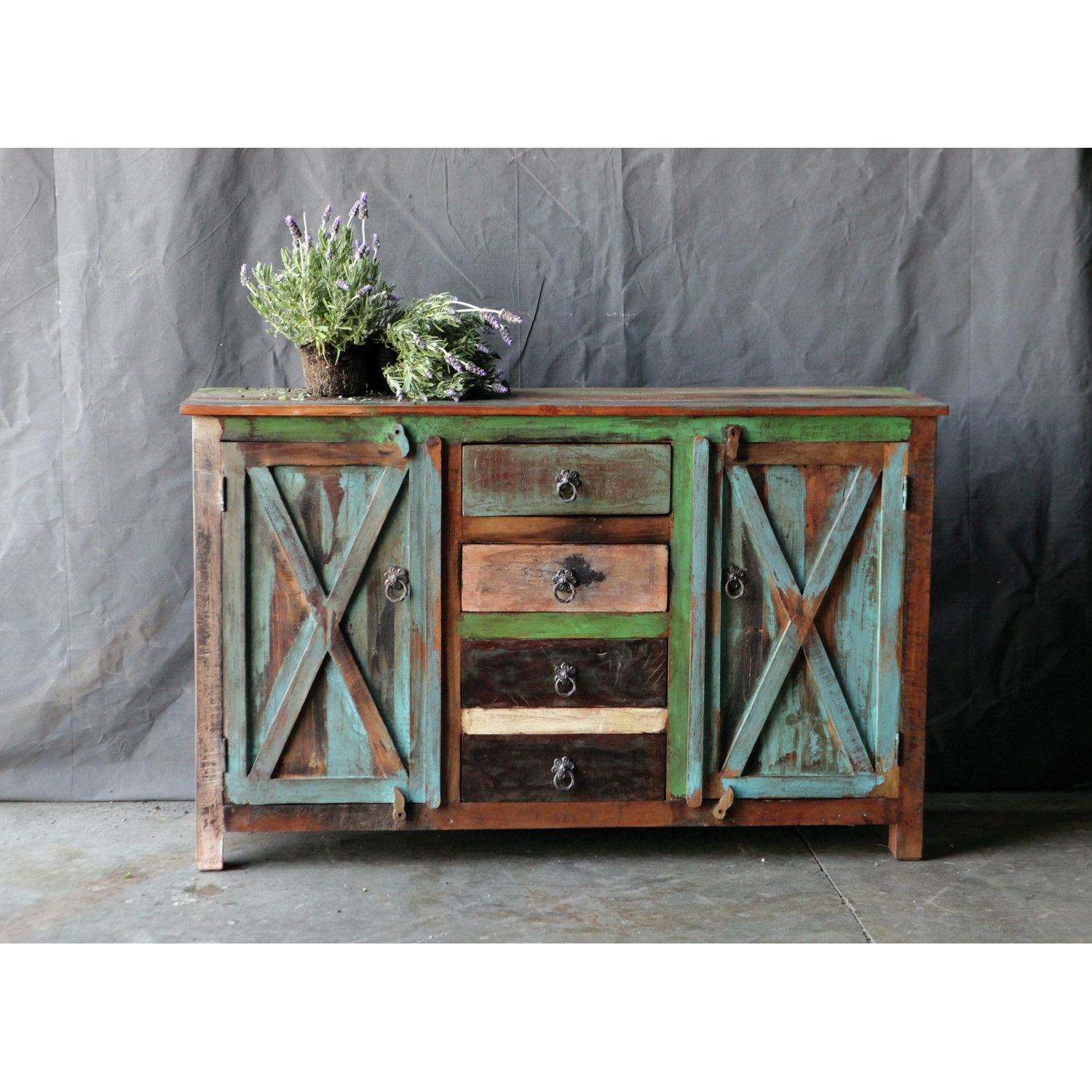 image creative rustic furniture. Creative Co-Op Casual Country Sideboard. Farmhouse FurnitureRustic Image Rustic Furniture A