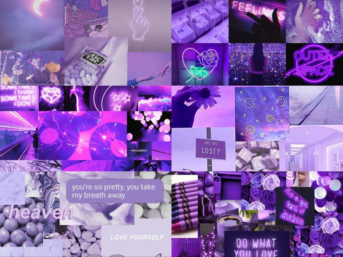 Purple Aesthetic Laptop Ipad Wallpaper Purple Aesthetic Aesthetic Collage Ipad Wallpaper