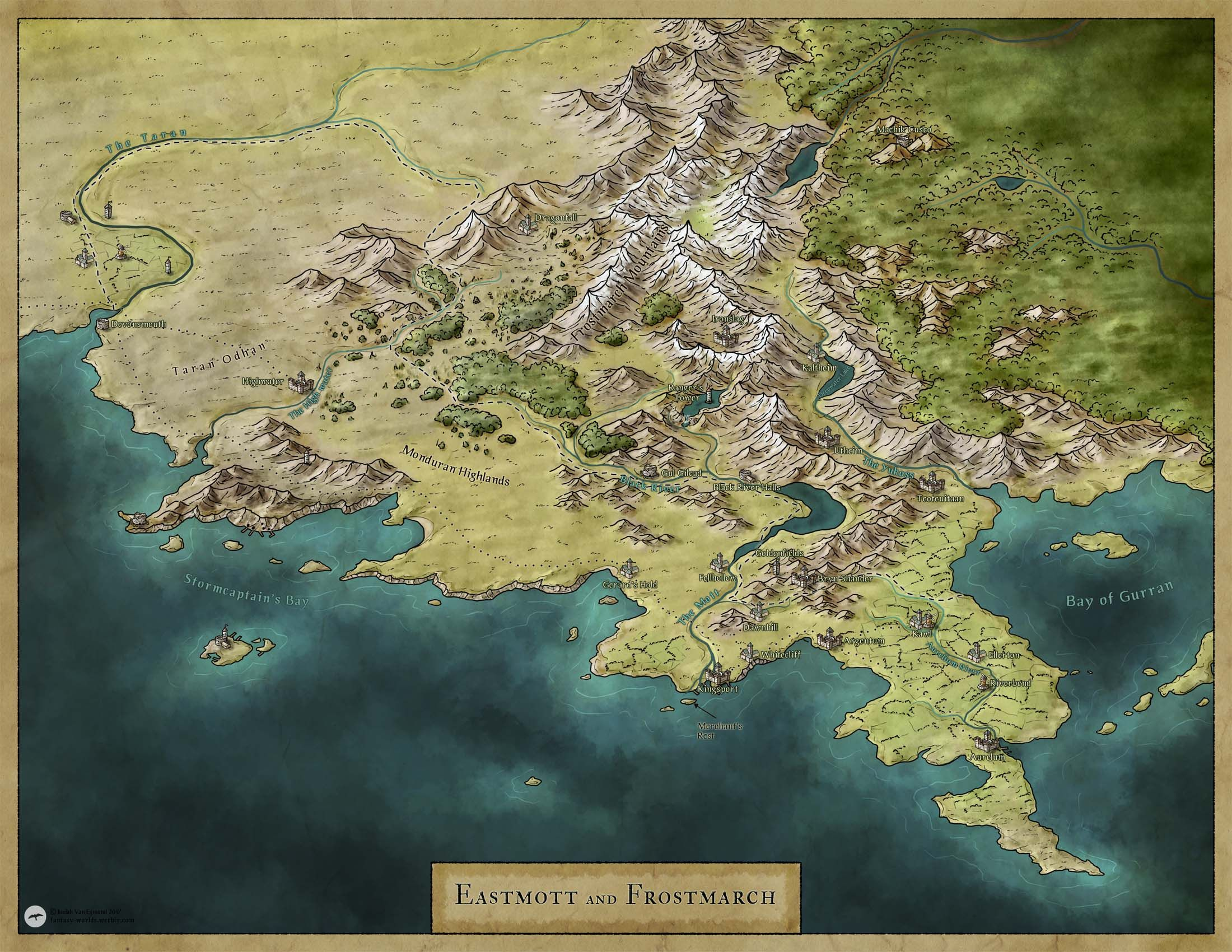 Map For Lord Of The Rings%0A Fantasy map
