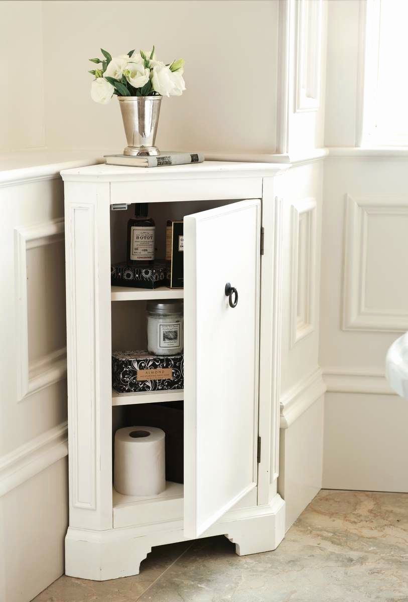 Bathroom Corner Cabinet Ideas Unique Small Corner Bathroom Cabinet Ideas Painted White C In 2020 Bathroom Corner Storage White Bathroom Storage Bathroom Corner Cabinet