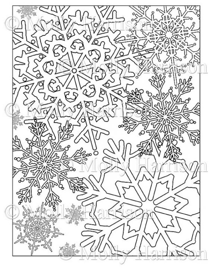 get this printable snowflake coloring pages for adults 67491 ...