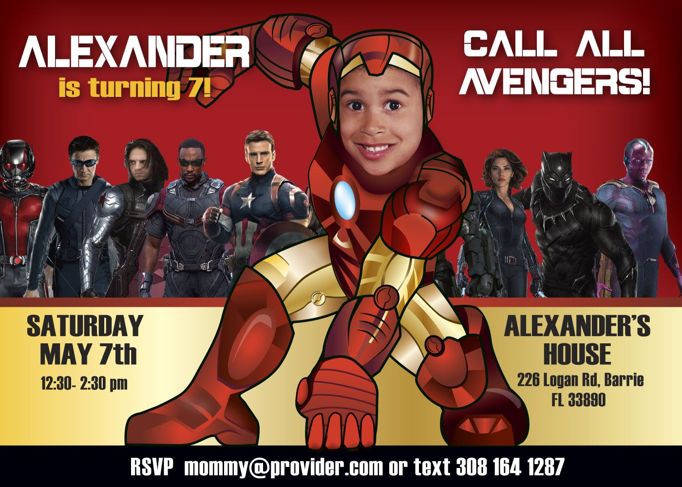 Ironman Birthday party invitation and party ideas. Avengers birthday ...