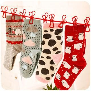 Buy 'Momoi – Set of 2: Cartoon Print Socks' with Free International Shipping at YesStyle.com. Browse and shop for thousands of Asian fashion items from China and more!
