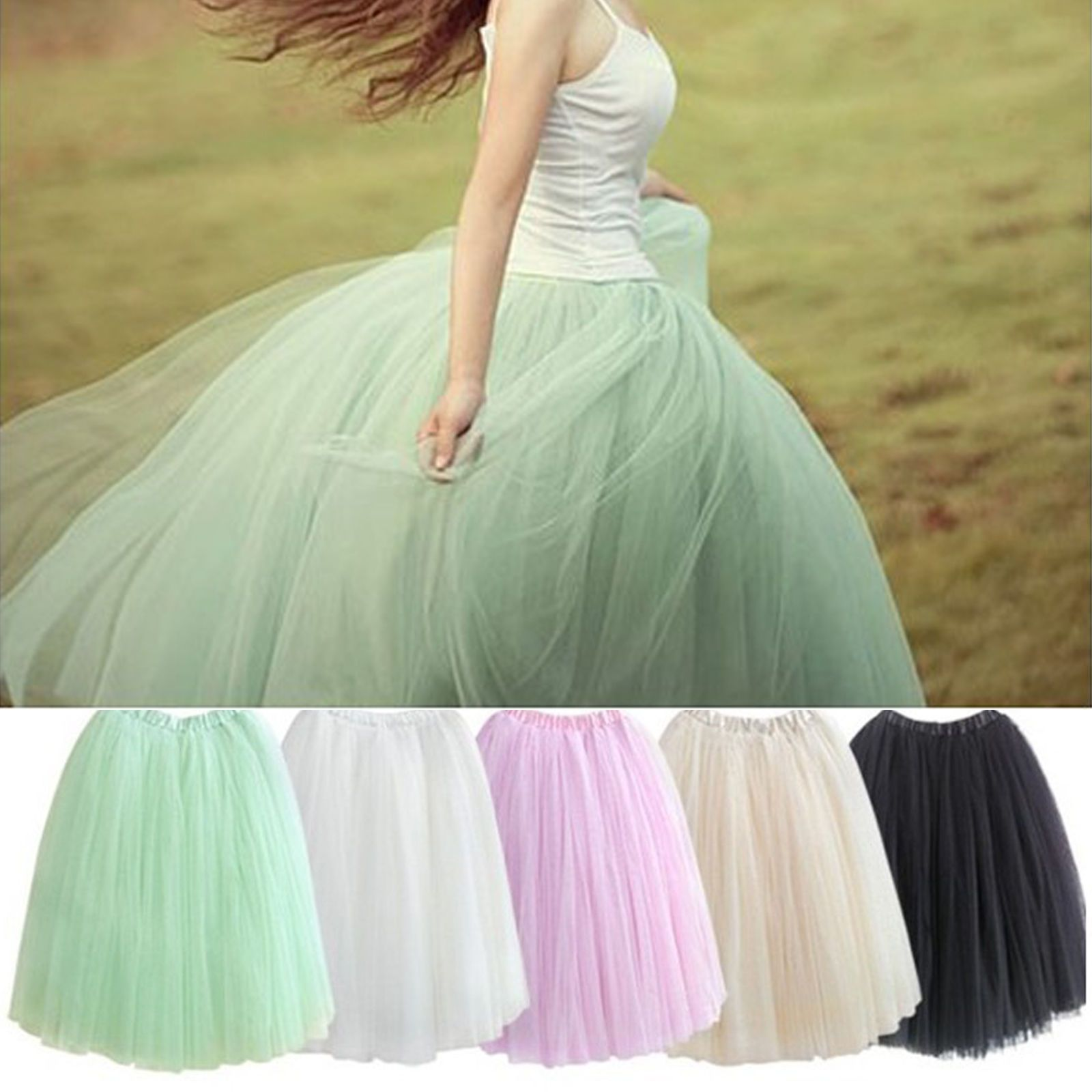 Petticoat 5 Lagen 5 lagig Tüllrock Prinzessin Kleid Rock Unterrock   eBay