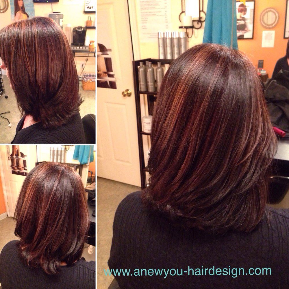 Rainbow Hair On Brunette