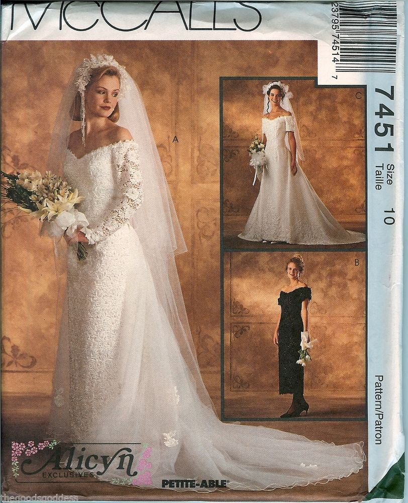 Patterns for wedding dresses  McCalls Alicyn Bridal Wedding Gown Dress vintage sewing pattern