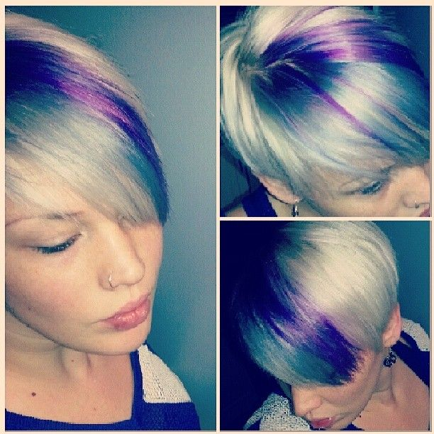 joico colour intensity titanium and orchid. so cool, but different placement