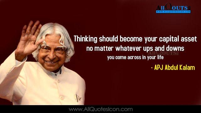 Abdul Kalam English Quotes Images Best Inspiration Life