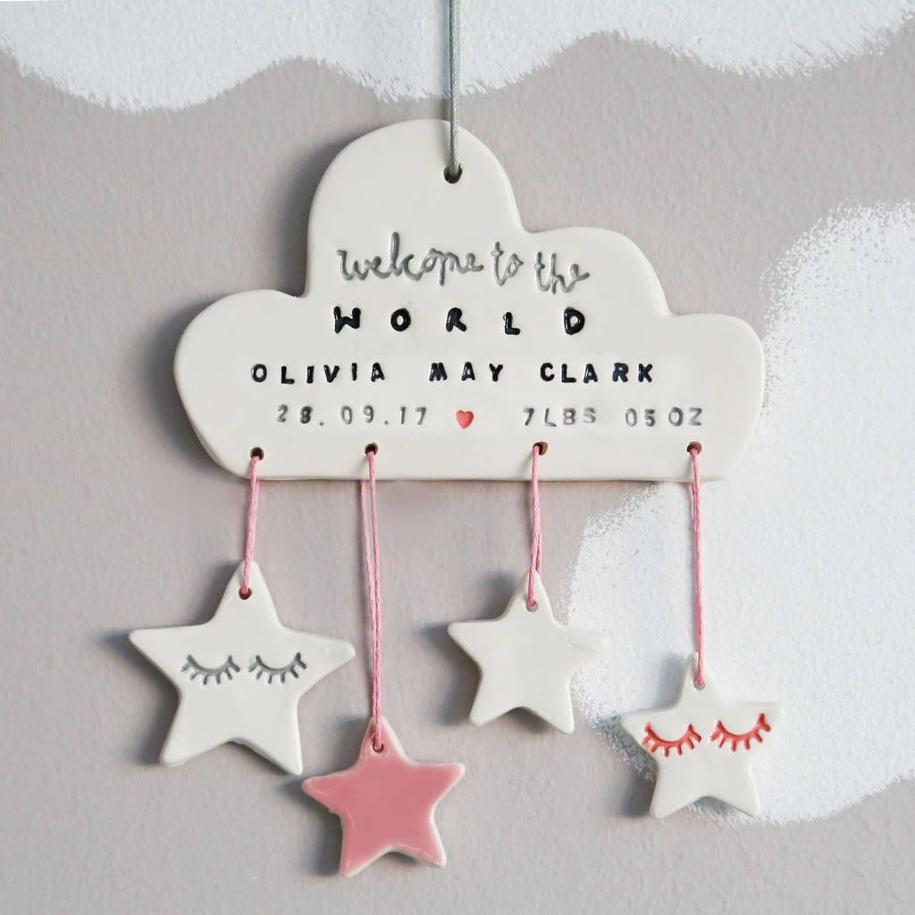 Are you interested in our personalised name date and weight for newborn? With our personalised newborn gift for nursery you need look no further.