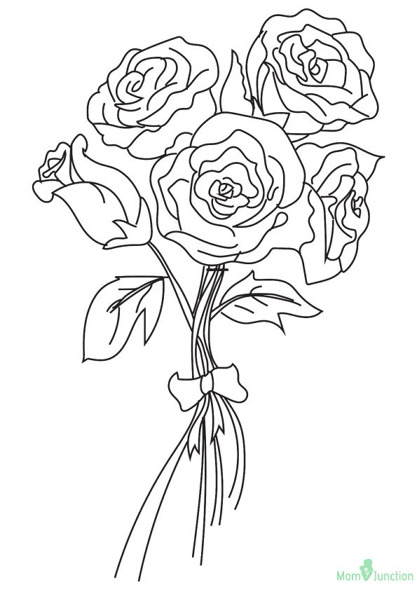 The Bunch Of Roses 16 Rose Coloring Pages Coloring Pages Coloring Books
