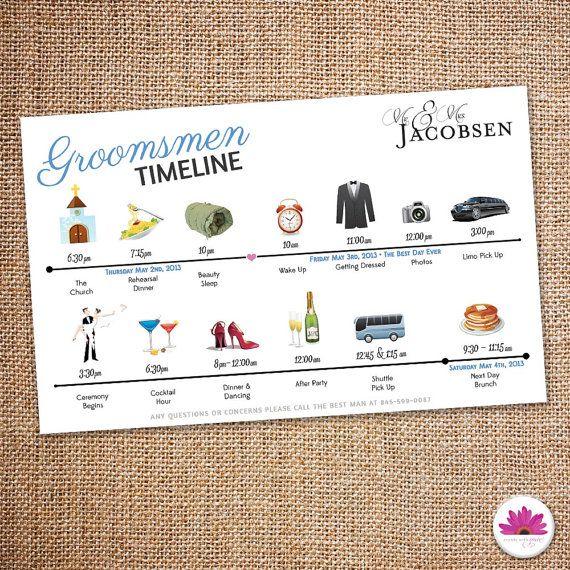 Groomsmen Big Day Time Line