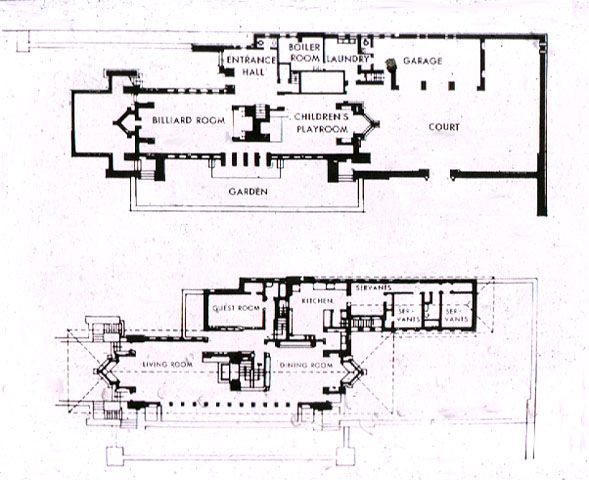 The 1903 Robie House, in Hyde Park, Chicago. A revolution
