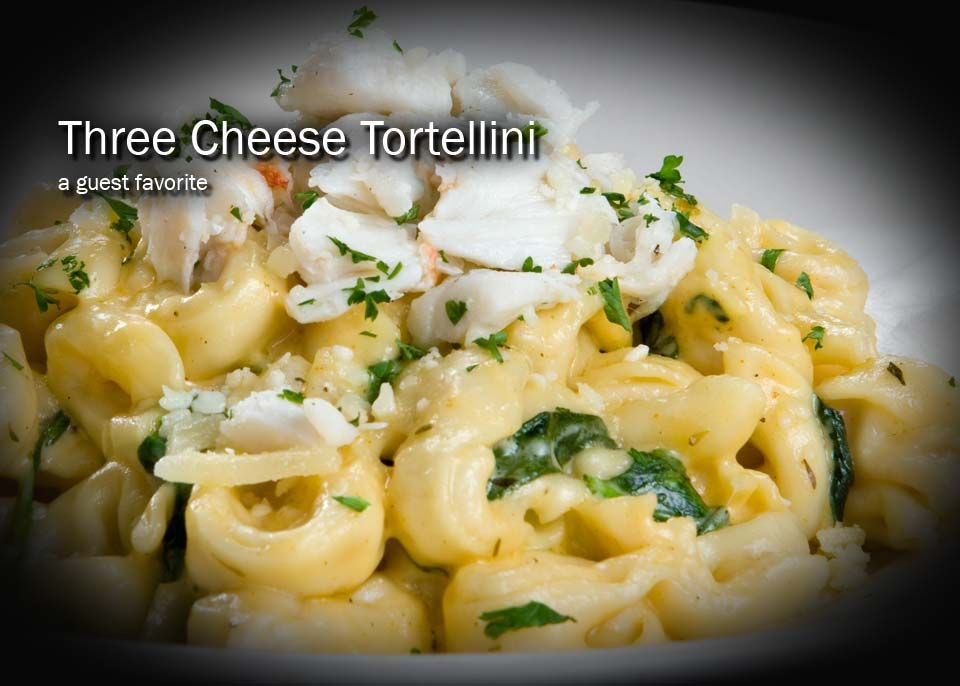 Three Cheese Tortellini At Amerigo Italian Restaurant Http Www Scenictrace Com Communities Mississippi Tortellini Recipes Seafood Entrees Cheese Tortellini