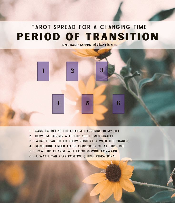 Period of Transition - Tarot Spread for a Changing Time — Emerald Lotus Divination