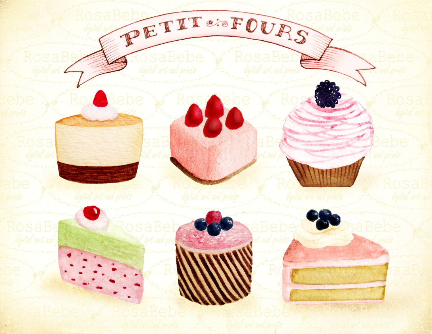 Cupcake Clipart Bake Goods Clipart Party Clipartbakery Etsy Cupcake Clipart Party Clipart Clip Art
