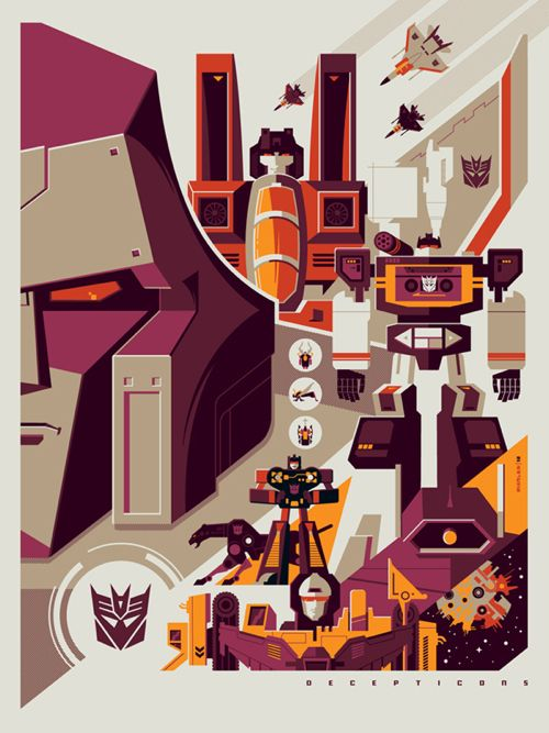 Transformers poster /// by artists Dave Perillo and Tom Whalen