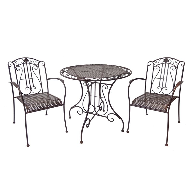 Outdoor Table And Chairs Set Bunnings: Marquee 3 Piece Rustic Metal Bistro Set