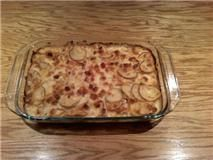 Made tonight and no leftovers!! Scalloped Potatoes and Ham-omitted green pepper
