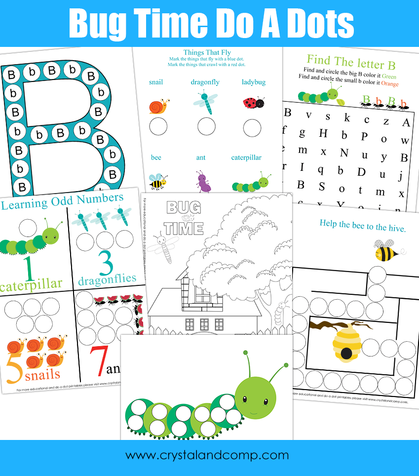Worksheet For Preschool To Do : Preschool do a dot printables bugs free
