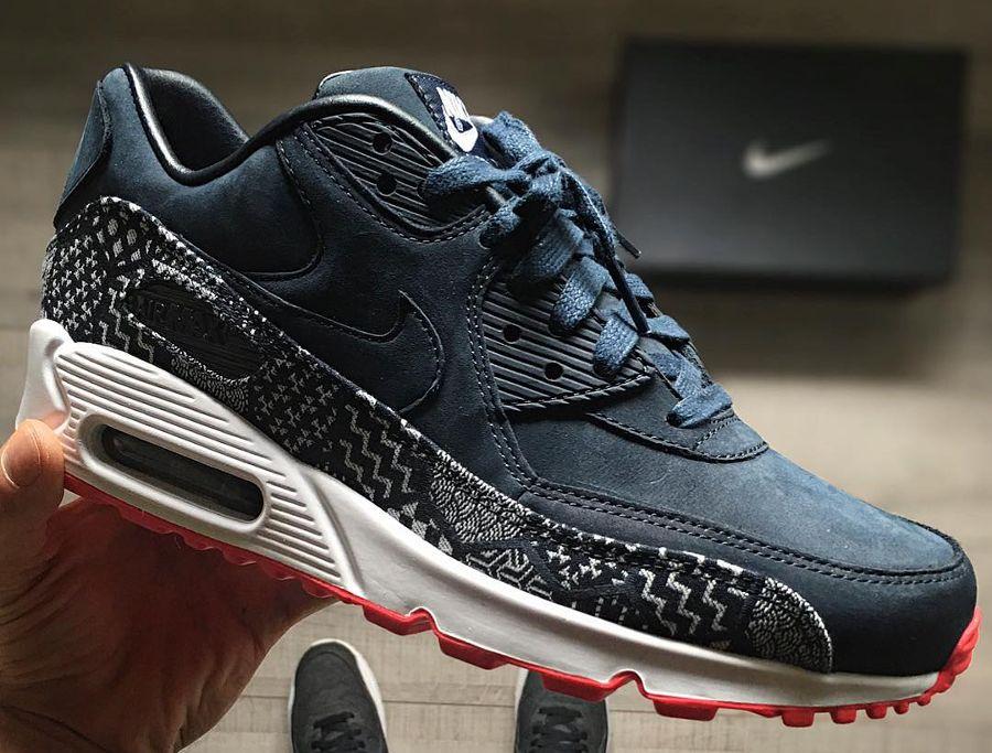 Nike Air Max 90 Premium Nubuck ID Kikko Indigo | Nike, Nike