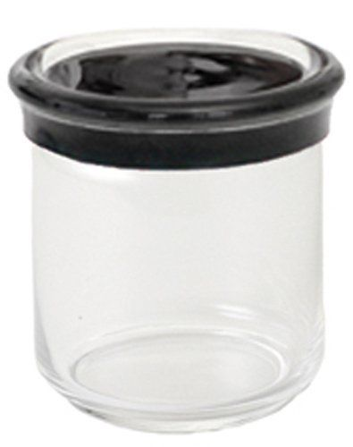 KDG International Omada Trendy Acrylic Food Storage Containers, 25 Ounce,  Black By KD