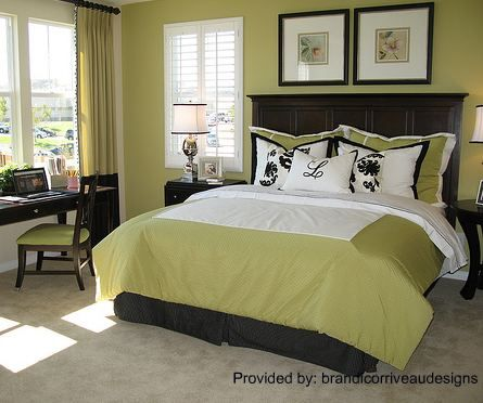 Bedroom Theme green and black bedroom ideas | teen decorating picture lime green