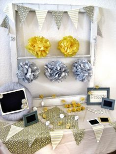 yellow and grey party theme - Google Search