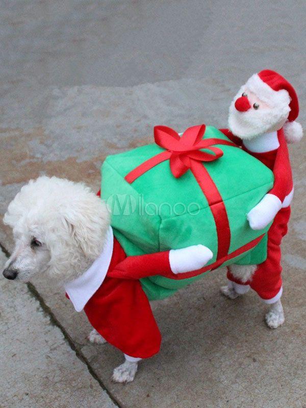 Dog Costume Carrying Box Halloween Ride On Costume Red Velvet