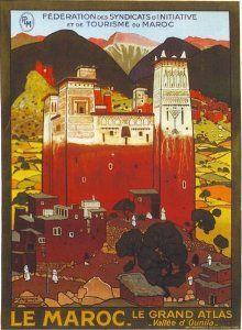 Vintage French Morocco Tourism Poster A3 Print: Amazon co uk