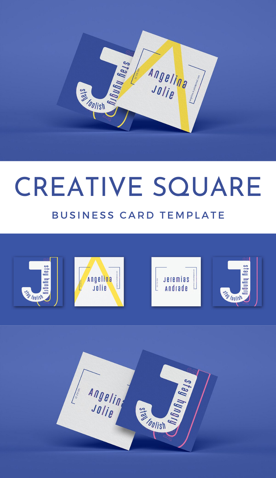 Creative Square Business Card Business Card Mock Up Business Cards Layout Design Business Card Ideas