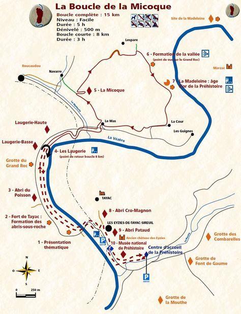 Map Of The Les Eyzies Area Including Laugerie Haute Aquitaine Dordogne France Les Eyzies Les Eyzies De Tayac La Vezere