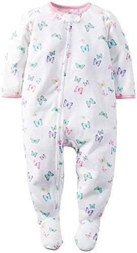 Toddler//Kid Carters Graphic Footies Floral