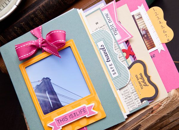 Memory Preservation - This Is The Life Mini Book by Ashley Cannon Newell for Papertrey Ink (July 2012)