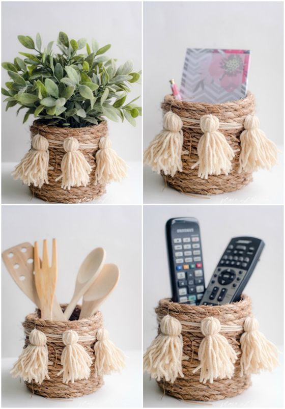 UHeart Organizing: A Darling DIY Rope Basket
