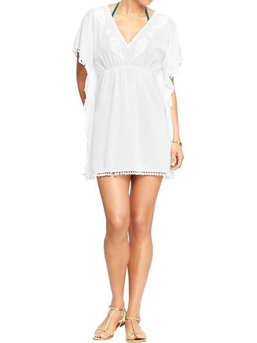 4a2db6981e Women's Pompom-Trim Cover-Ups Product Image   A Few of my Favorites ...