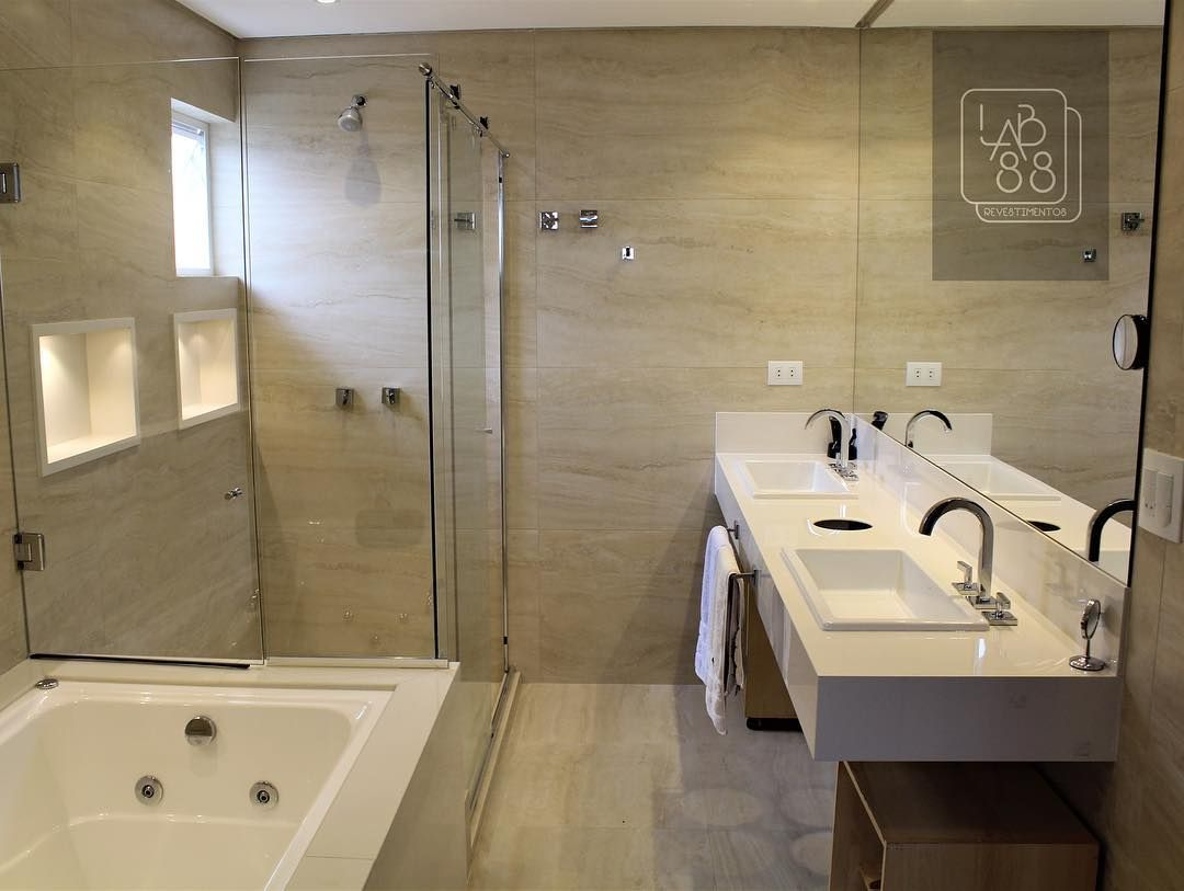 Bagno Travertino ~ Assentou o porcelanato portobello crema 60x120 travertino navona