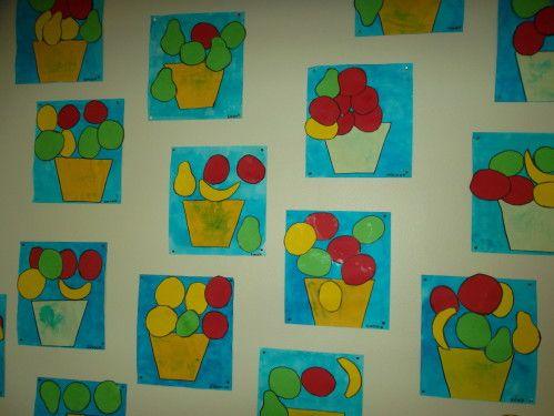 Coupes de fruits collage arts visuels pinterest - Fruits automne maternelle ...