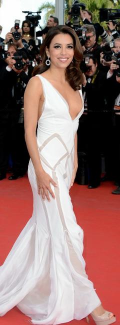 Eva Longoria in white Emilio Pucci gown