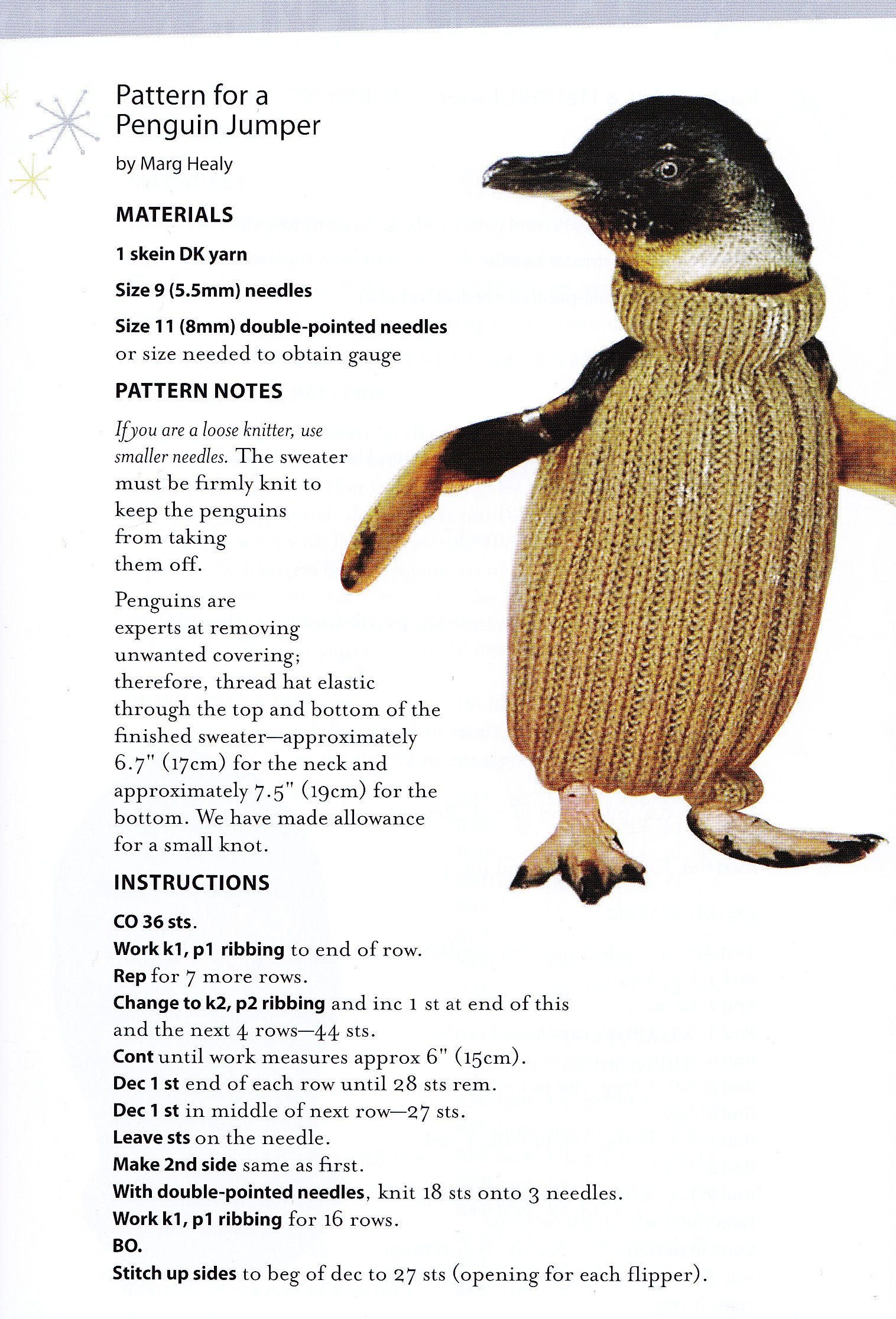 Knitting sweaters for penguins pattern from the book Astounding ...