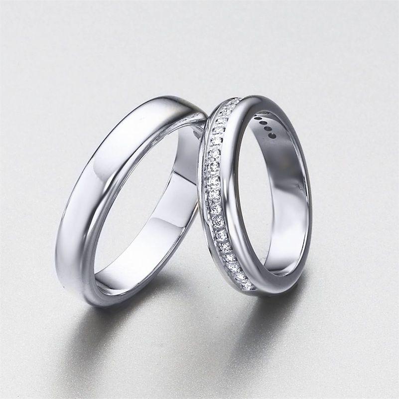 extensa seleccin de alianzas de oro y diamantes de lk set de alianzas para bodas