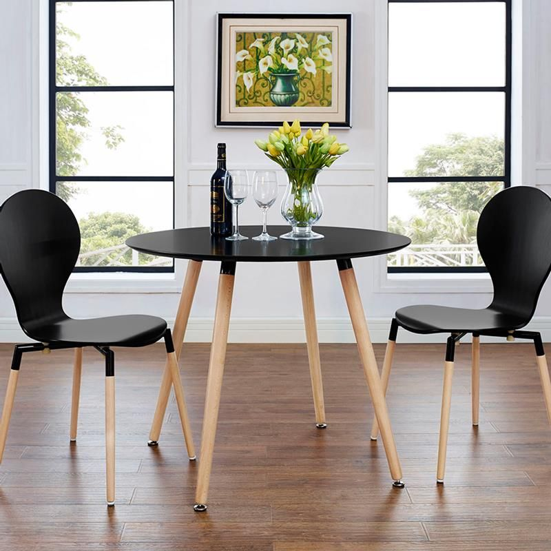 Tadley 35 Circular Dining Table Dining Table Black Round