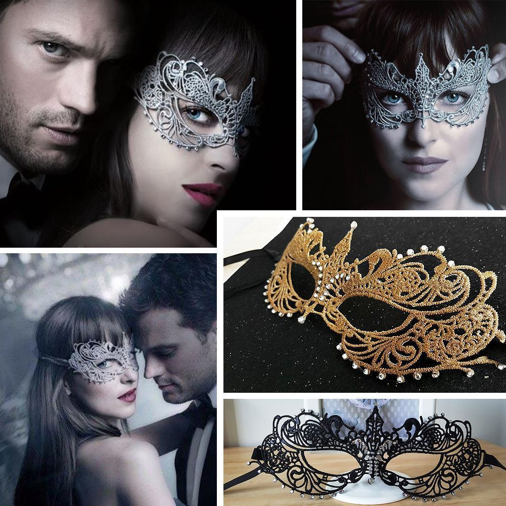 Rose Gold Petite Metal Masquerade Prom Costume Mask Couples Set Disguise Party
