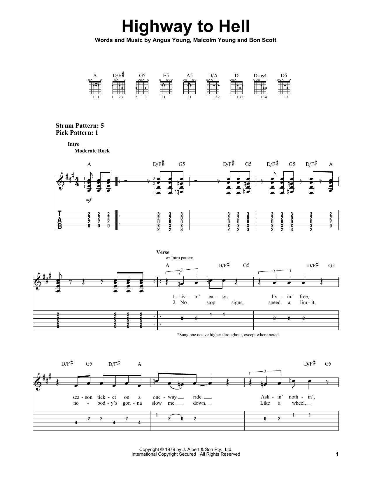 Acdc Highway To Hell Tab Music Pinterest Guitars Tablature