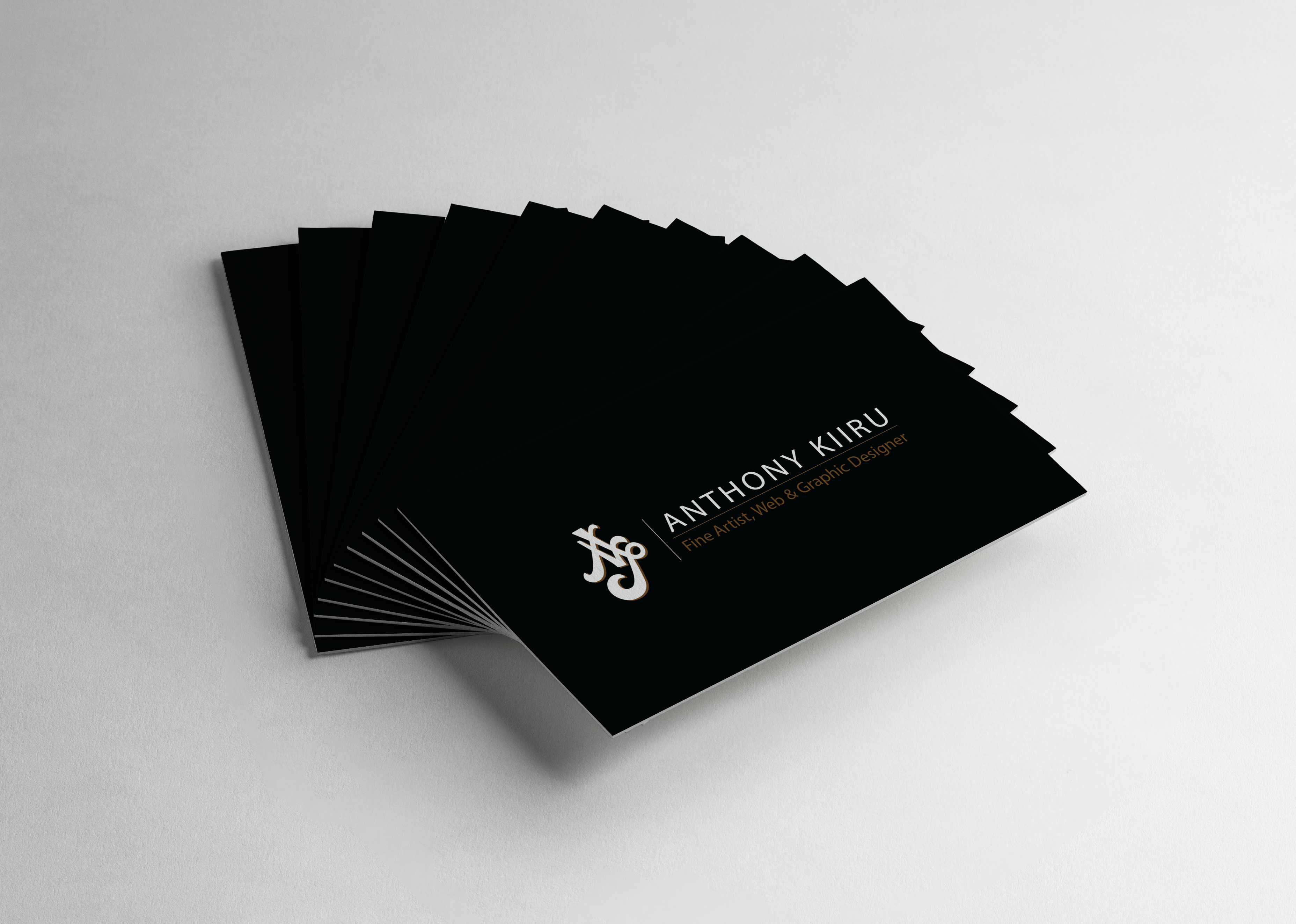 My personal business card design. Front side - Black in color ...