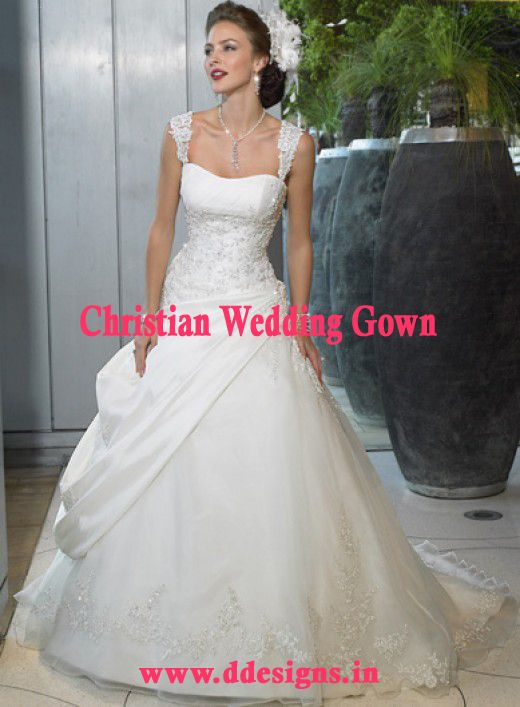 http://ddesigns.in/products/christian-wedding-gown.html #Christian ...