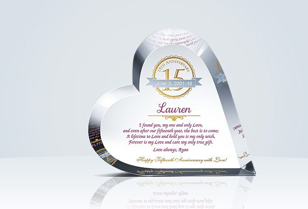Crystal Wedding Anniversary Gifts For Her: Crystal Heart 15th Anniversary Gift