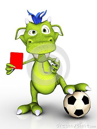 Cartoon Monster As Soccer Referee Cartoon Monsters Soccer Referee Soccer Funny
