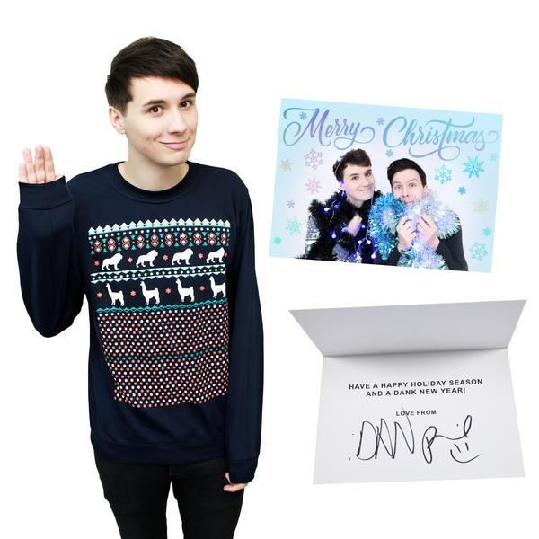 Dan And Phil Christmas Sweater.Official Dan And Phil Christmas Jumper Embrace The Festive