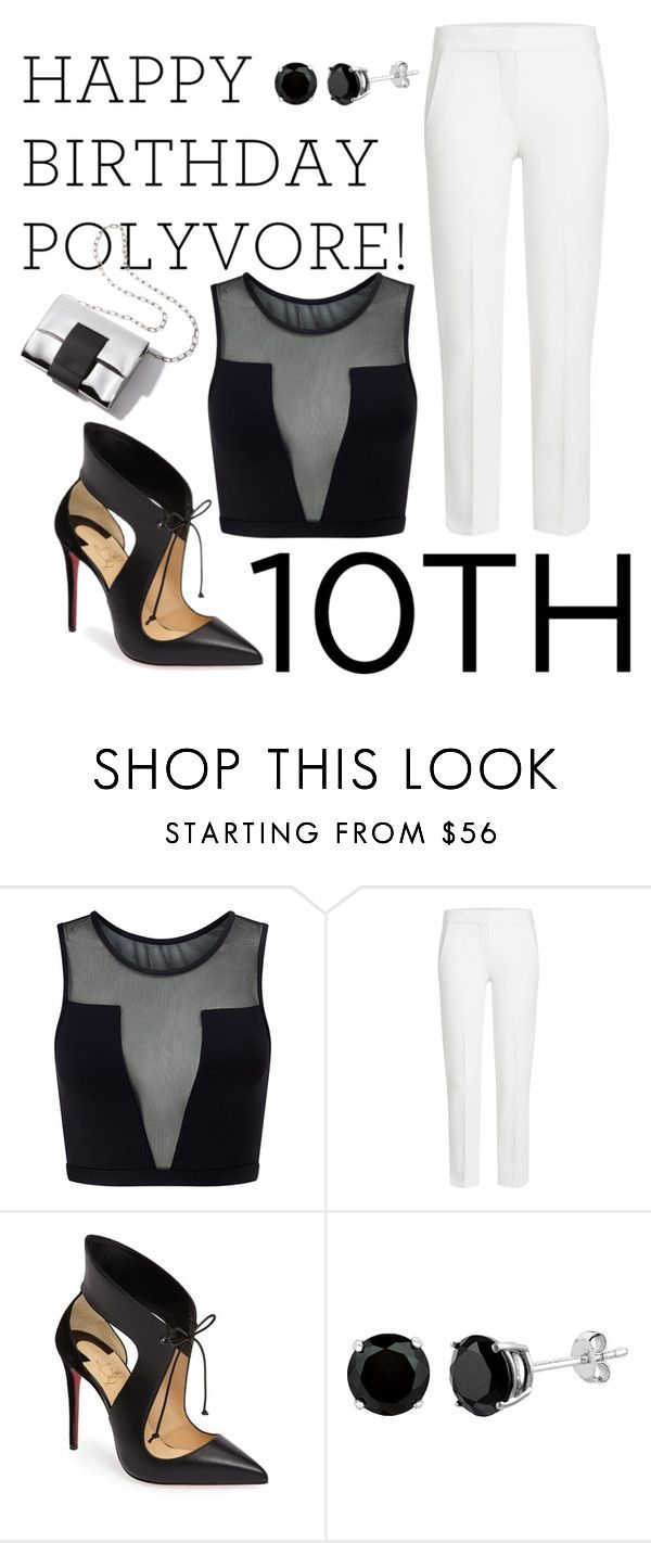 """""""Celebrate Our 10th Polyversary!"""" by anicka-duskova ❤ liked on Polyvore featuring Varley, MaxMara, Christian Louboutin, polyversary and contestentry"""