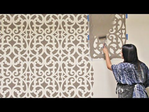 Fast Amp Fabulous How To Stencil A Wall In Only 1 Hour